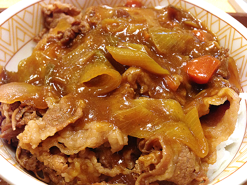 【ファスト無双】すき家のカレー南蛮牛丼食べてきました。