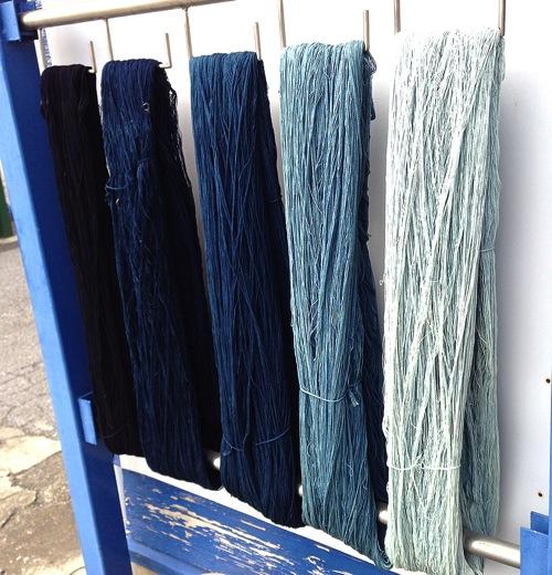 藍染 ニッポセレクト 工場 色 順番