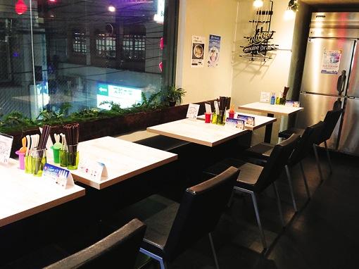 旗の台 青いラーメン スピルナ ブンブンブラウカフェ