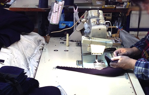 武州藍染 工場 見学 縫い方