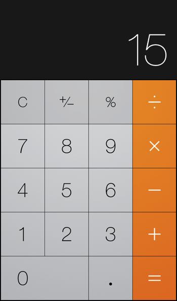 225÷15 iPhone バグ