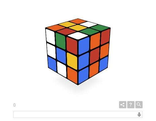 ルービックキューブ Google 遊べる Doodle