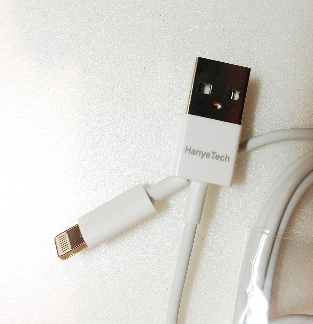【使える】HanyeTech製のiPhoneのLightningケーブルが激安でいい感じでした。